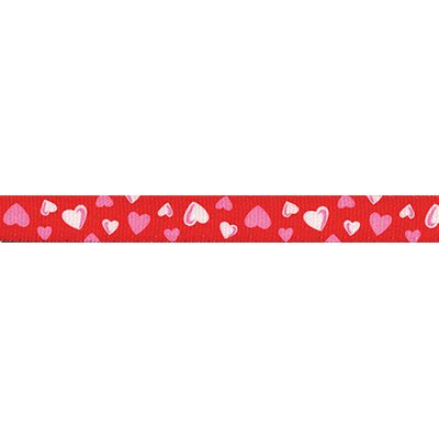 Yellow Dog Design Red Hearts Standard Collar