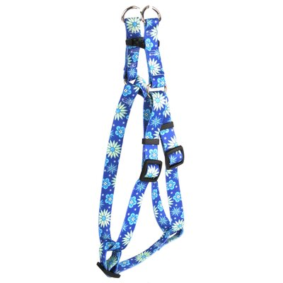 Yellow Dog Design Teal Flowers Step-In Harness