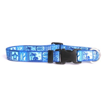 Yellow Dog Design Tiki Print Standard Dog Collar