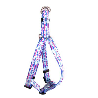 Yellow Dog Design Tropical Flowers Step-In Harness