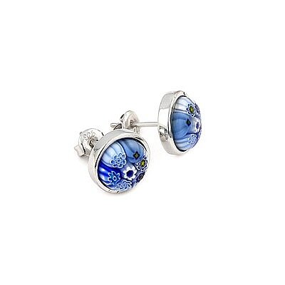 Millefiori Glass Stud Earrings