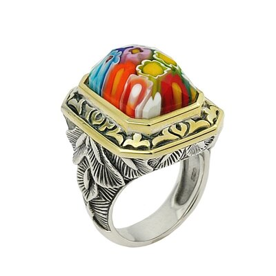 Plutus Partners Exquisite Glass Rectangle Ring