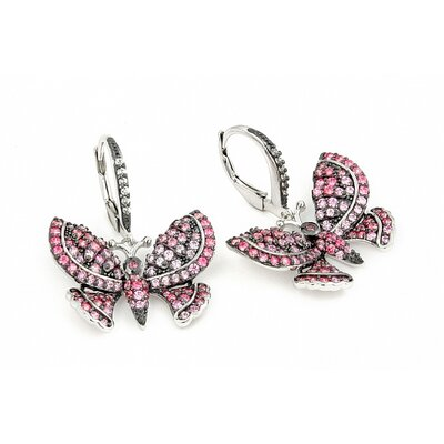 Ferroni Swarovski Elements Zirconia Butterfly Drop Earrings