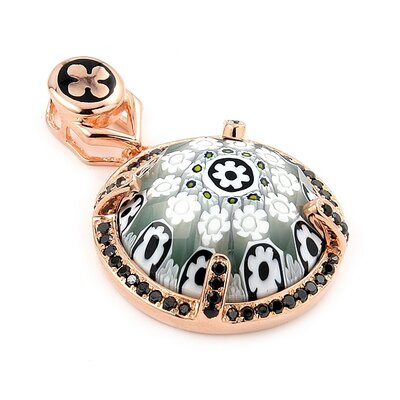 Plutus Partners Exquisite Sterling Silver Faceted Murano Glass Pendant