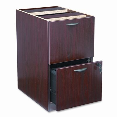 HON Basyx Bl Laminate Two-Drawer Pedestal File