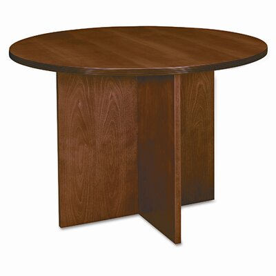 "HON Basyx Bw Veneer Series Round Conference Table Top, 42"" Diameter"