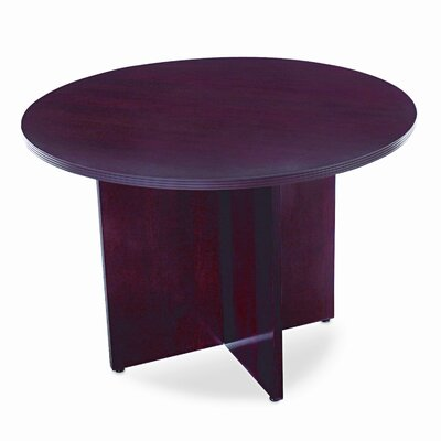 HON BW Series Table X-Base, 30w x 28h, Mahogany