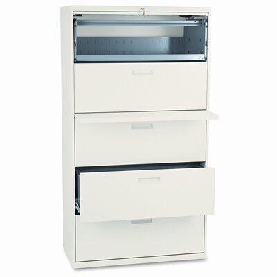 HON 500 Series Five-Drawer Lateral File, 36W X67H X19-1/4D