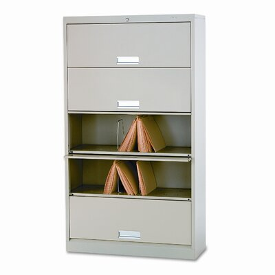 HON 600 Series 5 Shelf Open Letter File With Receding Doors
