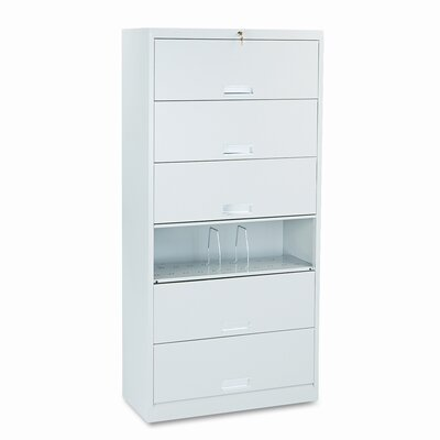 HON 600 Series Six-Shelf Legal File with Receding Doors