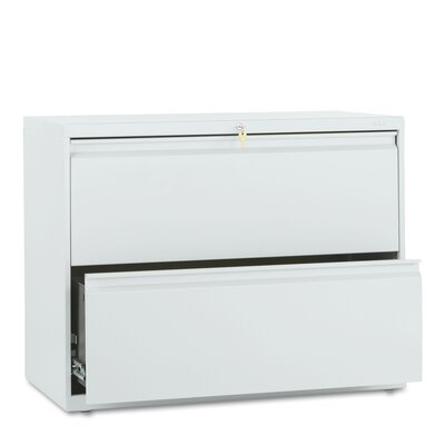 "HON 800 Series 36"" W Two-Drawer Lateral File with Locks"