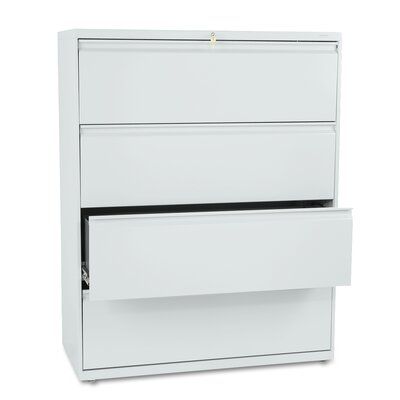 "HON 800 Series 42"" W Four-Drawer Lateral File with Locks"