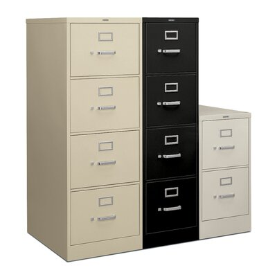 "HON H320 Series 52"" H Four-Drawer Legal Vertical File"