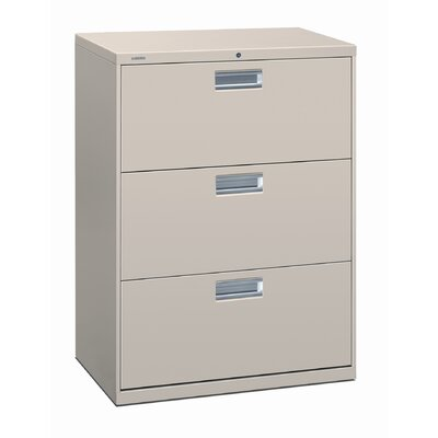 "HON 600 Series 30"" W Three-Drawer Lateral Files with Locks"