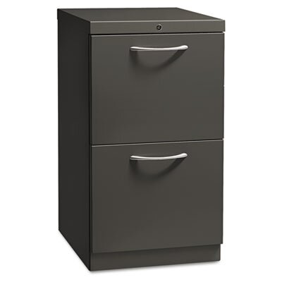 HON Flagship Mobile File/File Pedestal, Arch Pull, 19-7/8d, Light Gray
