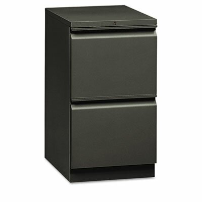 HON Flagship Mobile File/File Pedestal, Full Radius Pull, 19-7/8d, Light Gray