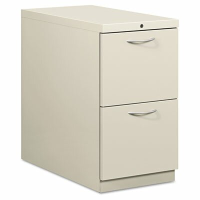 HON Flagship Mobile File/File Pedestal, Arch Pull, 28-7/8d, Light Gray