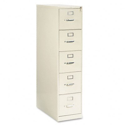 HON 210 Series Five-Drawer, Full-Suspension File, Letter, 28-1/2D