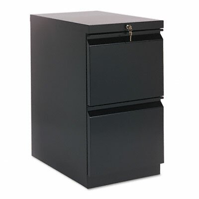 HON Efficiencies Mobile Pedestal File with Two File Drawers, 22-7/8D