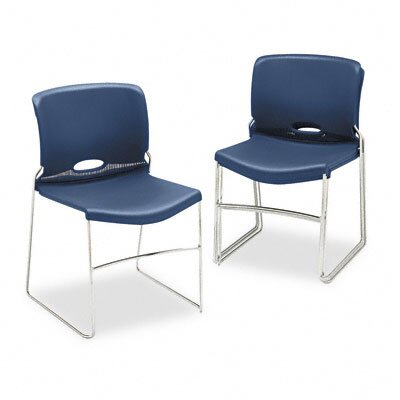 HON Olson Stacker Chair, Navy, Four/Carton