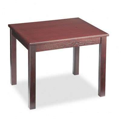 HON 5100 Series Wood End Table, Rectangular, 24w x 20d x 20h, Mahogany