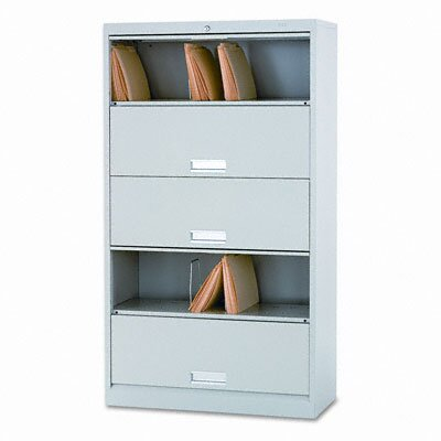 HON 600 Series 5-Shelf Steel Receding Door File, Legal