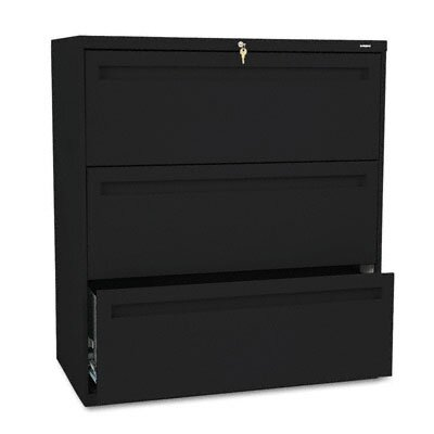 HON 700 Series Three-Drawer Lateral File, 36W X 19-1/4D