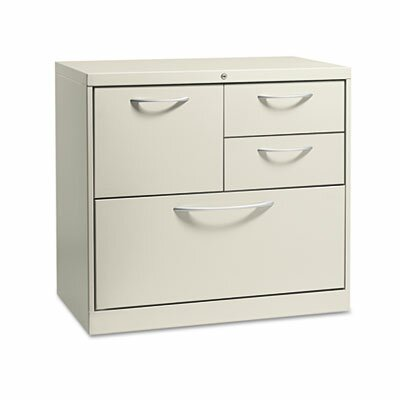 HON Flagship File Center w/Box/File/Lateral File Drawers, 30w x 18d x 28h, Gray