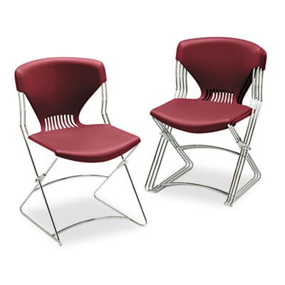 HON Olson Flex Stacker Chair, Garnet, Four/Carton
