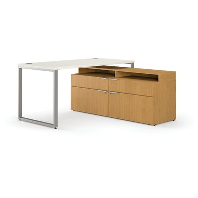 HON Voi Contemporary Small Footprint L-Station Desk