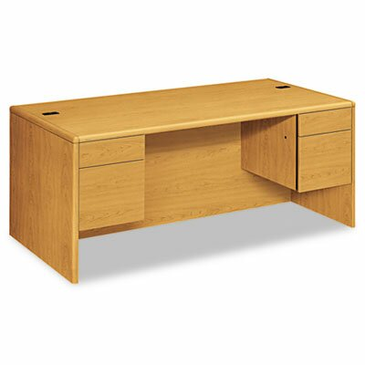 HON 10700 Series Desk, 3/4-Height Double Pedestals