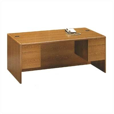 "HON 10700 Series 60"" W Double 3/4 Pedestal Executive Desk"