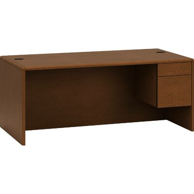 HON 10700 Series Single Desk with Right Pedestal