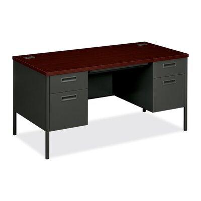 "HON Metro Classic 60"" W Double Pedestal Office Computer Desk"