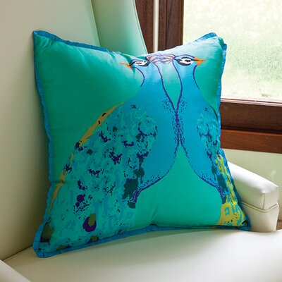 Global Views Bassett Hall Peacock Silk Pillow