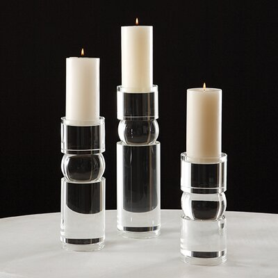 Global Views Bipolar Crystal Candle Holder
