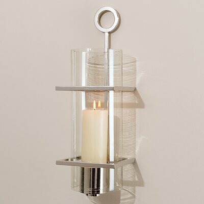 Global Views Circle In Square Wall Sconce Candle Holder