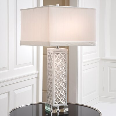 "Global Views Arabesque 35"" H Table Lamp with Square Shade"