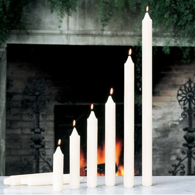 Global Views Unscented Ivory Taper Candles (Set of 4)