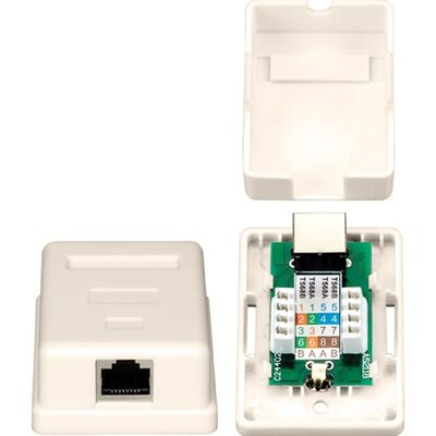TechTent One RJ45 Shielded Keystone Jack Surface Mount Box