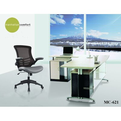 Manhattan Comfort Luxurious High-back Mesh Office Chair with Casters