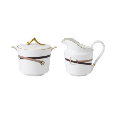 Wedgwood Equestria Sugar and Creamer Set