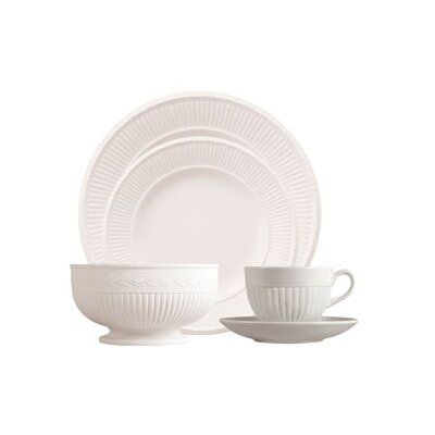 Edme White 5 Piece Place Setting