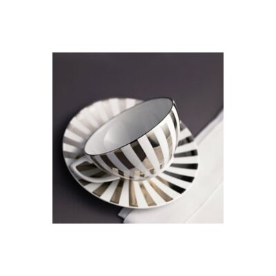 Jasper Conran Platinum Fine Bone China Striped Tea Saucer
