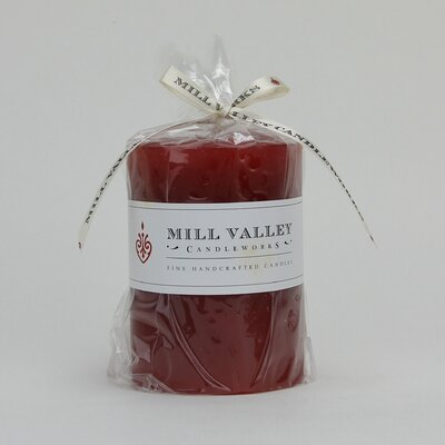 Mill Valley Candleworks Rose Scented Pillar Candle