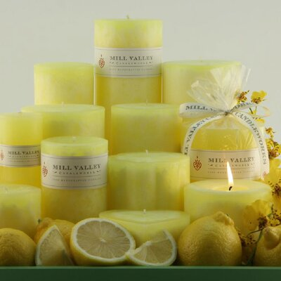 Mill Valley Candleworks Lemon Scented Pillar Candle