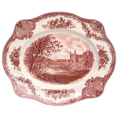 <strong>Johnson Brothers</strong> Old Britain Castles Pink Oval Platter