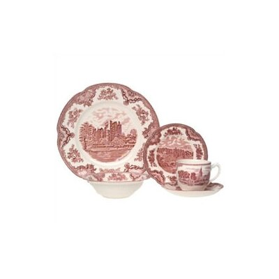 Johnson Brothers Old Britain Castles Pink 20 Piece Dinnerware Set