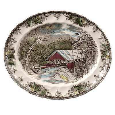 <strong>Johnson Brothers</strong> Friendly Village Oval Platter