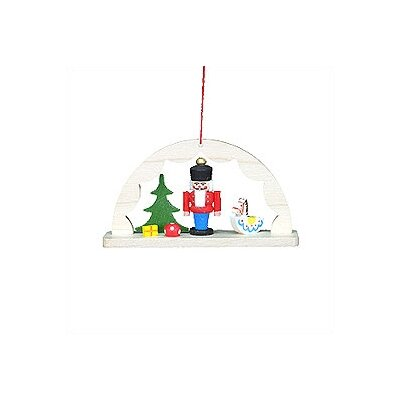 Christian Ulbricht Archway with Nutcracker and Rocking Horse Ornament